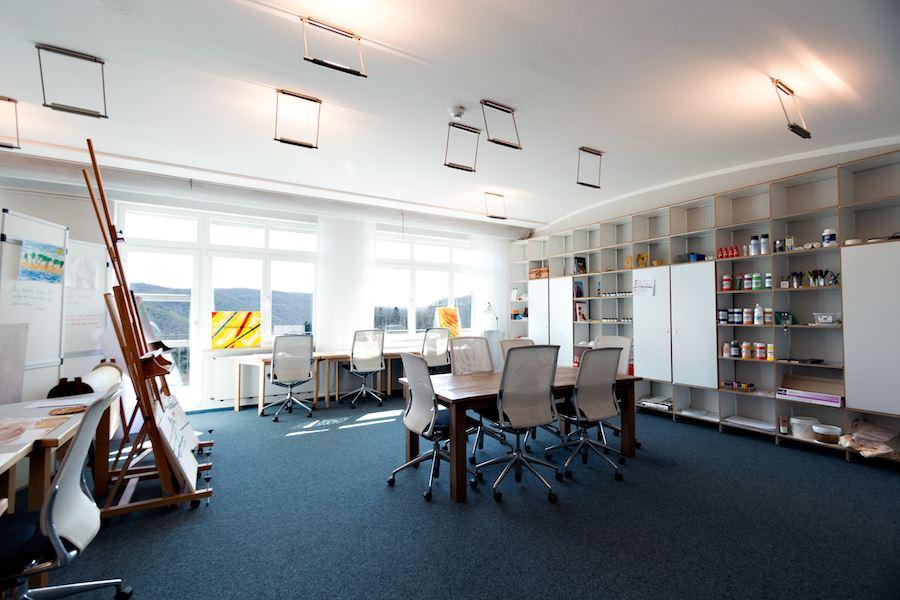 Kunsttherapieraum für komplementäre Therapien in der Lifespring-Privatklinik