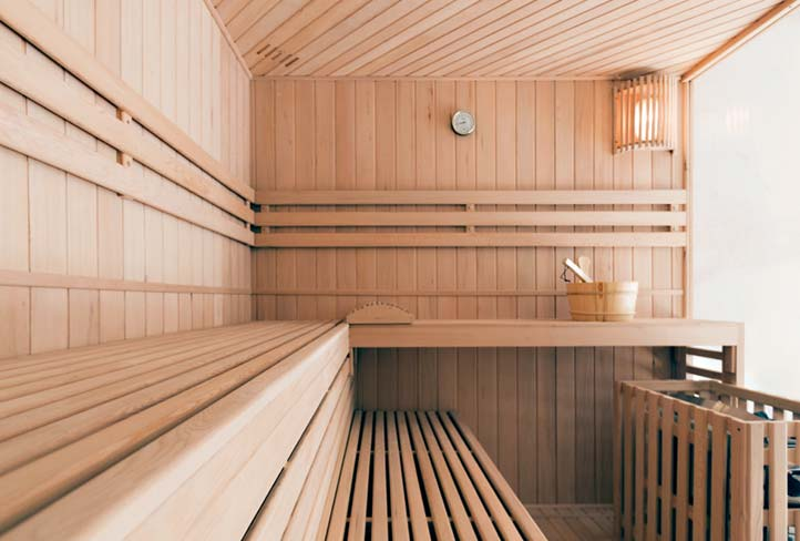 Sauna in der Lifespring-Privatklinik