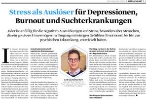 Presseartikel Stress als Auslöser für Depressionen